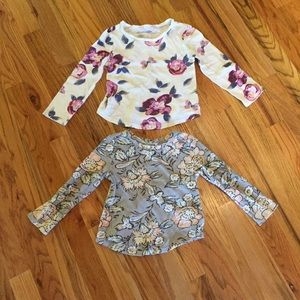 Old Navy Shirts & Tops - Set of Two Old Navy Floral Long Sleeve Tees - 3T